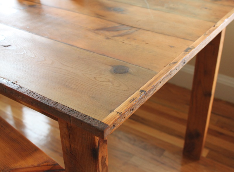 Our Custom-Made Reclaimed Wood Dining Room Table | Domestocrat