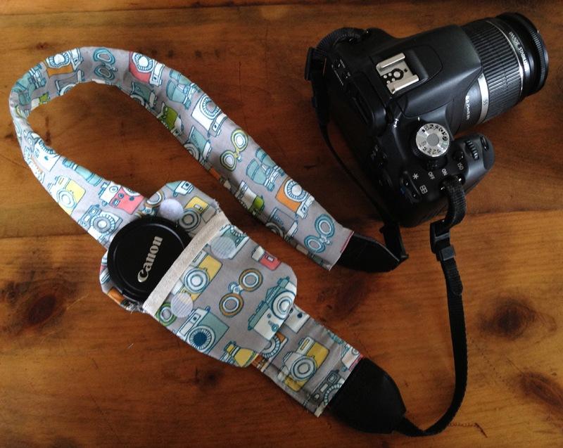 DIY: Camera Strap Lens Cap Pocket | Domestocrat